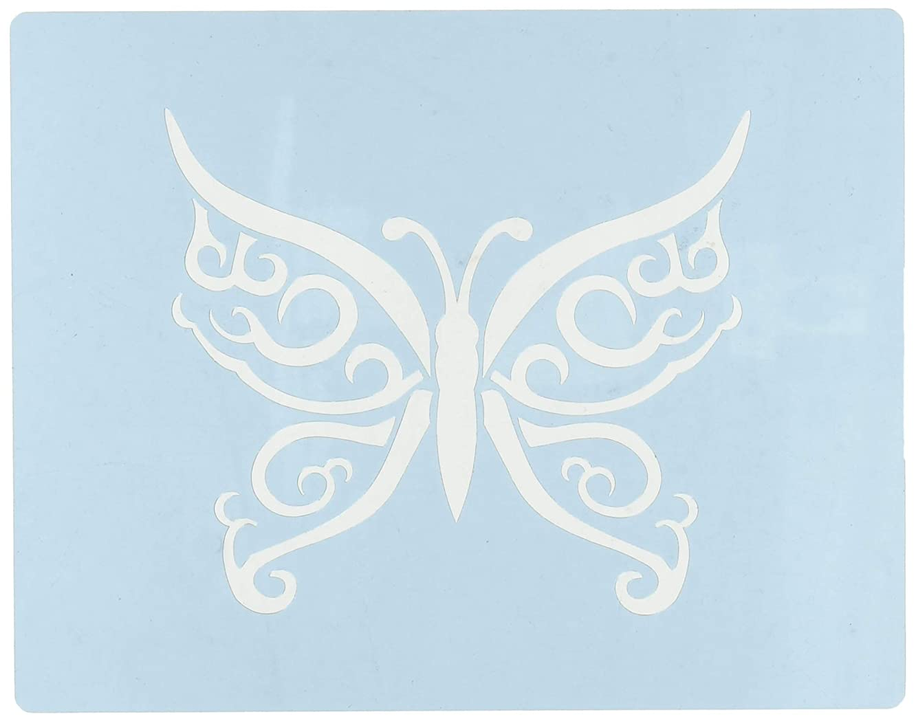Faux Like a Pro Celtic Butterfly Stencil, 5.5 by 7-Inch, Single Overlay