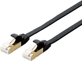 エレコム LANケーブル Cat7 爪折れ防止 フラット 2m ブラック ECLD-TWSFT/BK2