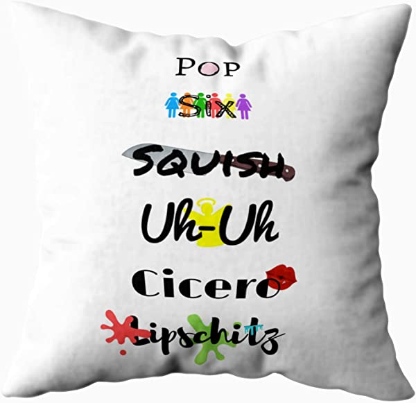 Musesh Cell Block Tango Pillow Quote Cushions Case Throw Pillow Cover For Sofa Home Decorative Pillowslip Gift Ideas Household Pillowcase Zippered Pillow Covers 18X18Inch