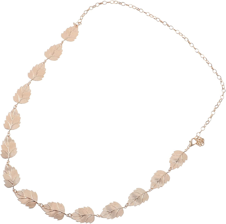 KESYOO Girls Waist Chain Leaf Shaped Waist Chain Decor Women Body Accessory