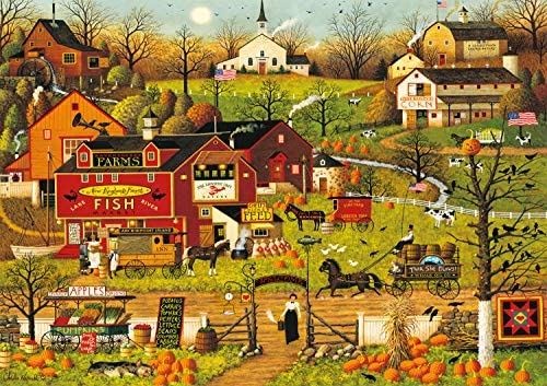 Buffalo Games Charles Wysocki Blackbirds Roost at Mill Creek 300 Large Piece Jigsaw Puzzle product image