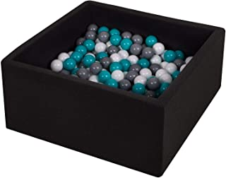 TRENDBOX Ball Pit Kids Ball Pit Memory Foam Ball Pit Square Ball Pits for Toddlers Babies Ball Pit Balls NOT Included - Black