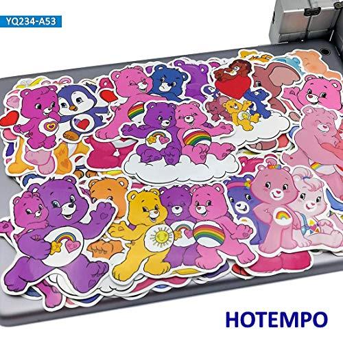BLOUR Cartoon regenboogbeer stickers voor kinderen DIY mobiele telefoon laptop koffer gitaar gitaar skateboard fietstas PVC waterdicht 50 stuks