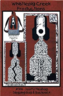 Spotty Fleabag Sleeping Bag Backpack Quilt Sewing Pattern Whistlepig Creek Productions