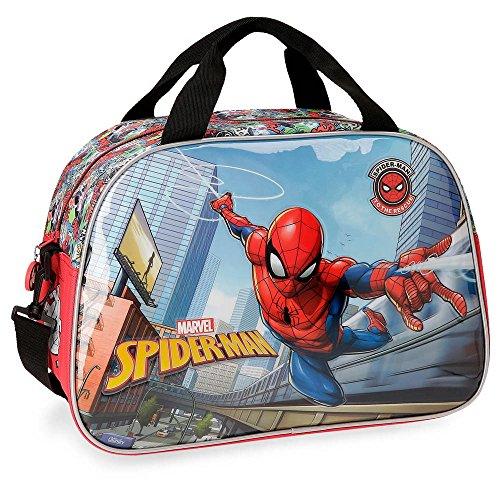 Marvel Spiderman Grafiti Borsa da viaggio Multicolore 40x28x22 cms Poliestere 24.64L