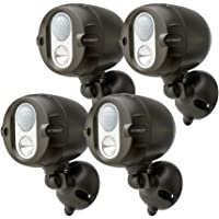 4-Pack Mr Beams MBN354 Networked LED Wireless Motion Sensing Spotlight System