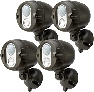 Mr Beams MBN354 Networked LED Wireless Motion Sensing Spotlight System with NetBright Technology, 200-Lumens, Brown, 4-Pack