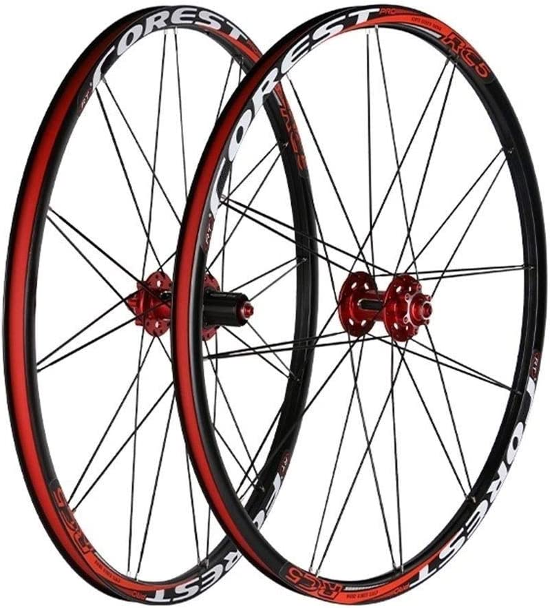 MZPWJD Juego Ruedas Bicicleta 26/27.5 Pulgadas, Llanta MTB Doble Pared Freno Disco QR 24H Compatible 7 8 9 10 11 Velocidad: Amazon.es: Deportes y aire libre
