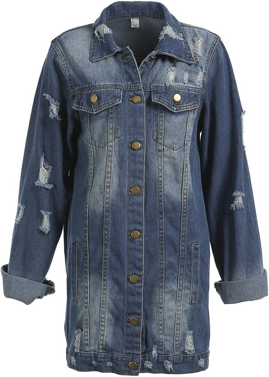 Oversize Special sale item Denim Jacket for Women Lon Ranking TOP5 Boyfriend Ripped Jean
