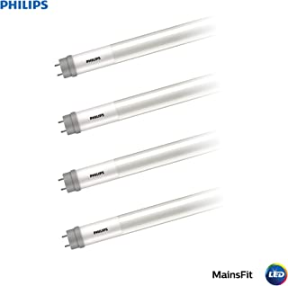 Philips LED 538371 Ballast Bypass 4-Foot T8 Tube Glass Light Bulb: 1800-Lumen, 4000-Kelvin, 14 (32-Watt Equivalent), Medium Bi-Pin G13 Base, Frosted, Cool White, 4-Pack, 4, 4 Piece