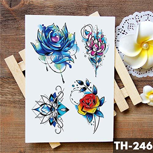 5Pc-Amore Corona Rosa Blu Giglio Fiore Impermeabile Tatuaggio Adesivo Piccione Angelo Braccio Tatuaggi Body Art Tatuaggi Tatoo-In Da 18-Th-246