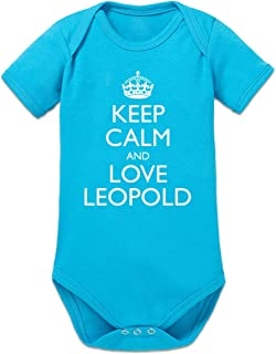 Shirtcity Keep Calm and Love Leopold Baby Strampler by