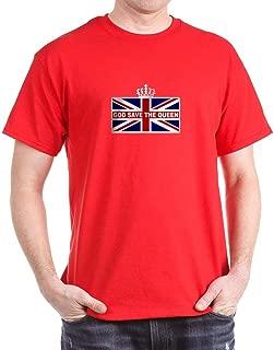 God Save The Queen Dark T Shirt 100% Cotton T-Shirt Red