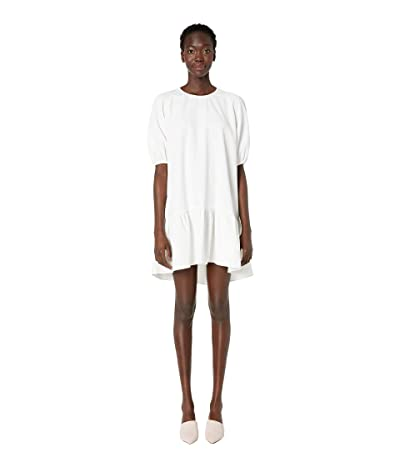 Boutique Moschino Short Sleeve High-Low Dress (White) Women
