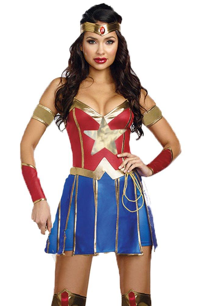 I-CURVES Ladies Wonder Woman 3 Piezas Disfraces cousume Talla XL ...