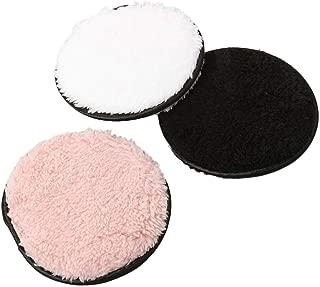 Frcolor 8pcs maquillaje redondo esponja suave suelto polvo soplo cosm/ético compacto soplo de polvo para la fundaci/ón rosa, 4.5x0.8cm