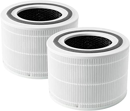 LEVOIT Core 300 Air Purifier Replacement Filter, 3-in-1 Pre-Filter, True HEPA Filter, High-Efficiency Activated Carbo...