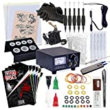 Rehab Ink Complete Tattoo Kit w/Machine, Power Supply, Needles, 4 Inks & More