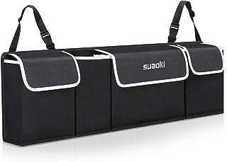 SUAOKI Organizador de Coche de asiento plegable, gran capacidad de 92 * 28 * 10cm, de tejido de PVC 600D, Impermeable con correa ajustable, botellas de ajuste universal, tabletas, tejidos y más