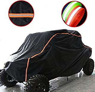 KEMIMOTO UTV Cover RZR Storage Cover Protect Your SxS Vehicle from Rain, Snow, Dirt, Debris and Damaging UV Rays-Reflective Strip for Increased Visibility