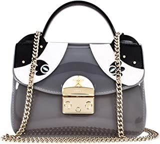 Furla Candy Ginger Ladies Small Grey Onice PVC Crossbody 978639