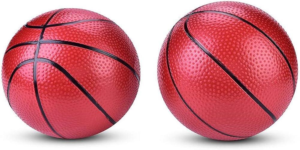 2Pcs Mini Kids Basketball,ChildrenTraining Inflatable Basketball