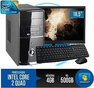 PC Completo Intel Core 2 Quad, 4GB RAM DDR3, HD 500GB, Monitor 18,5' LED, Wi-fi, Teclado e Mouse