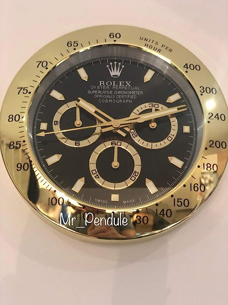 Haoyun rolex orologio da parete muto oro daytona
