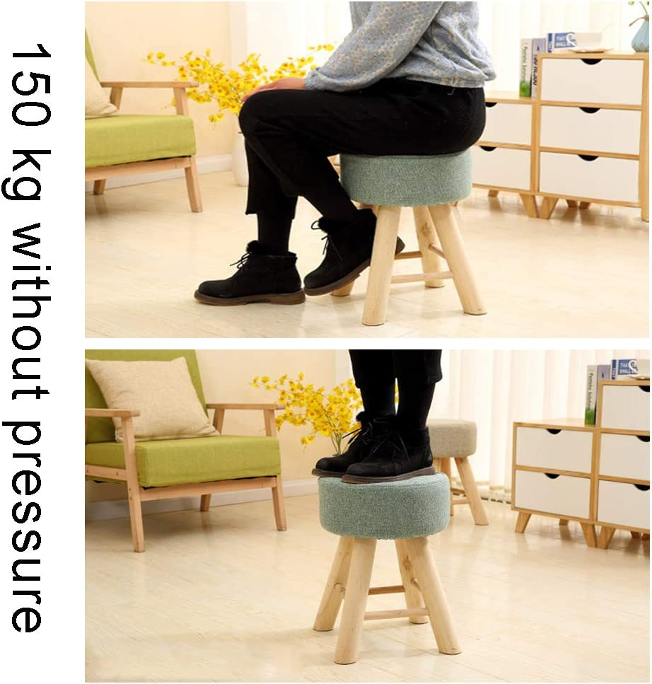 LXMT Tabouret Moderne avec siège en Bois empilable pour Chaise de Salle à Manger intérieure/extérieure Tabouret en Bois Massif,color4 Cyan