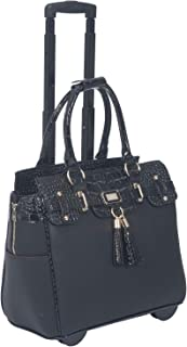 JKM and Company Lexington Rolling Compatible with Computer iPad Tablet or Laptop Tote Carryall Bag