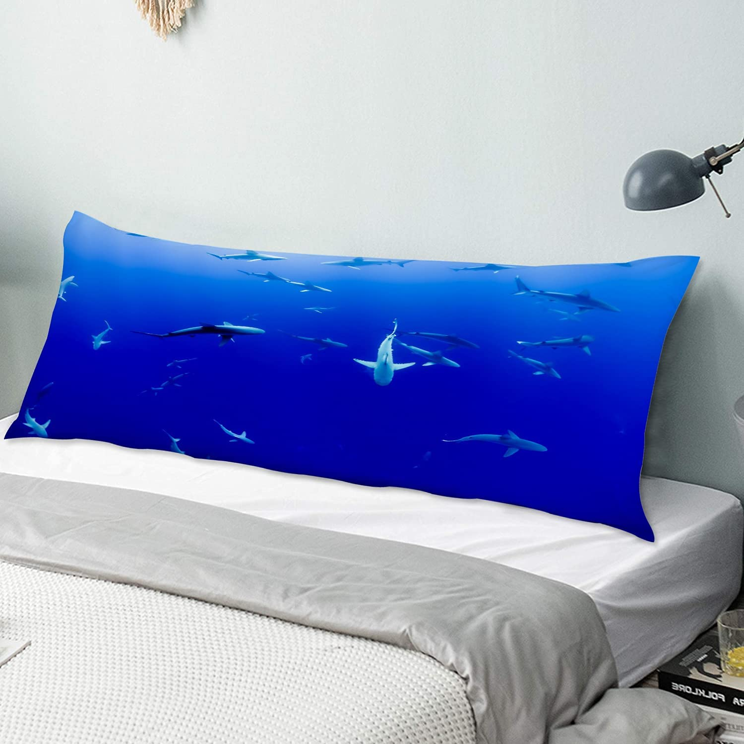 KENADVI Body Pillow Cover Pillowcase Gathering Dee The Sharks Over item handling Max 84% OFF in