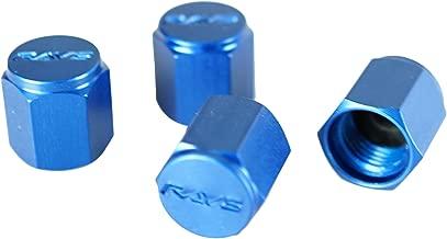 RAYS WVALBL2 Blue Aluminum Valve Cap