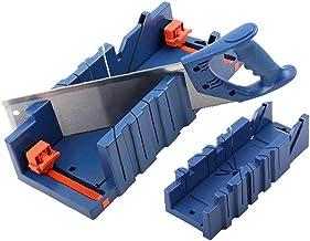nJiaMe Mitre Mitre Saw Box Tratamiento de la Madera de sujeción con la Caja de Mitre 45 ° 90 ° Ángulo de Ranura Carpintero Carpintero Color Azul Oscuro