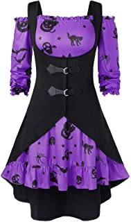 Steampunk Corset Dress 2 Piece Outfits Bustiers Coat with Dress,LIM&ShopHalloween Party Masquerade Gothic Dress Skirt