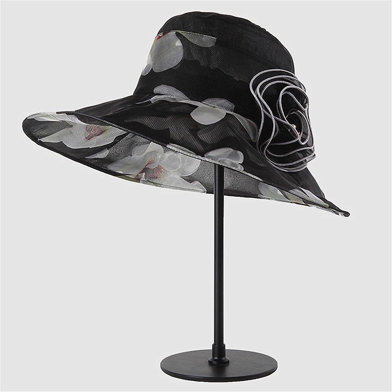Women's Hat Mulberry Silk Hat Lady's Sun Hat Can Be Folded in Windbreaker