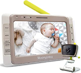 """MoonyBaby Wide Angle, 5"""" Large LCD Screen Video Baby Monitor with Clear Night Vision, Digital Camera, Temperature Monitori..."""