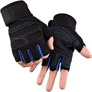 Best blue and black fingerless gloves Reviews