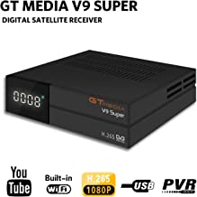GTMEDIA V9 Full HD DVB-S2 Freesat Satellite Receiver H.265 Built-in WiFi TV Box Support PowerVu, DRE & Biss Key, DLNA,SAT to IP,Unicable,Satellite EPG by Aoxun