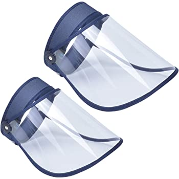 AIEOE Pack de 2 Escudo Facial de Protección al Aire Libre Visera Protectora Antigotas Transparente Careta de Seguridad de Cara Completa: Amazon.es: Bricolaje y herramientas