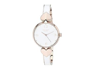 Kate Spade New York Hollis Watch KSW1592 (Rose Gold/White) Watches