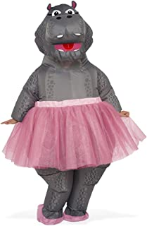 Adult Size Inflatable Hippo with Pink Tutu Costume - Ballerina