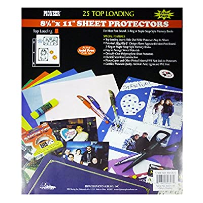 Pioneer Photo Albums RW-SB25 Bulk Sheet Protectors for 8.5 x 11 Pages (Pack of 25)