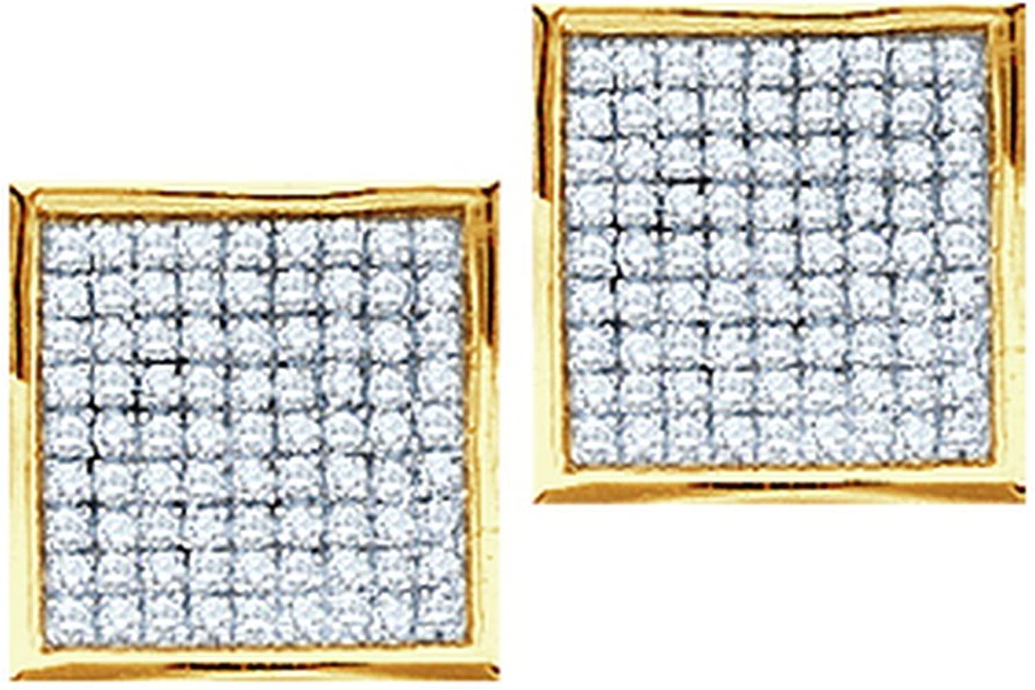 1 4 Total Carat Weight DIAMOND MICROPAVE EARRINGS