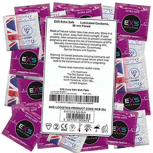 EXS extra kluis (Max Protection) 100 condooms met dikke wanddikte, duurzaam en scheurvast