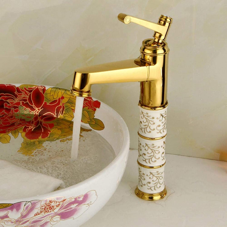 Gorheh Kristall Becken Wasserhahn Einhand Einlochmontage Warm- Und Kaltwasser Waschbecken Wasserhahn Vintage Style Badzubehr