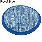 Everyday Diario DIY Mujer Sinamay Sombrero Tocado Base Redonda Millinery Craft Accesorios, Azul Real, 13.5cm/5.31' (Approx.)