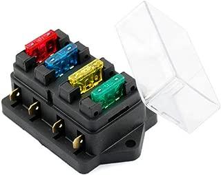 kaaka 12V/24V Standard ATO 4 Blades Fuse Box Block Holder+Fuse for Car Vehicle Van Circuit Accessory