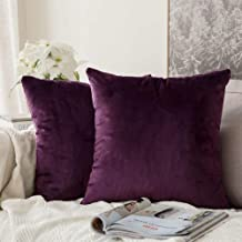 In House Wine Velvet Decorative Solid Filled Cushion, 30 * 30 centimeter