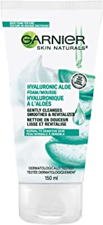 Garnier Hydrating Foaming Facial Cleanser, Daily Face Wash for Sensitive Skin, With Hyaluronic Acid and Aloe (150 Ml), 150...