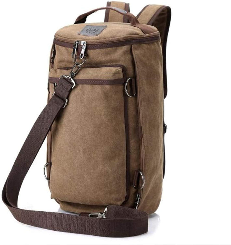 Canvas Backpack MultiFunction Drum Bag, Brown